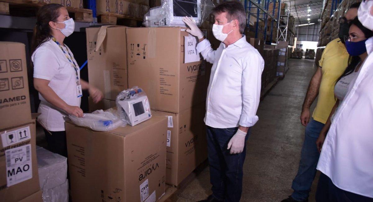 MAIS EQUIPAMENTOS   Roraima recebe 50 novos ventiladores mecânicos e mais medicamentos