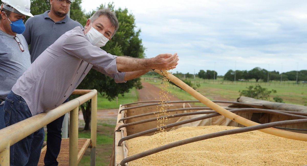 Silos voltam a operar administrados pelo | Governo e recebem primeira carreta de grãos