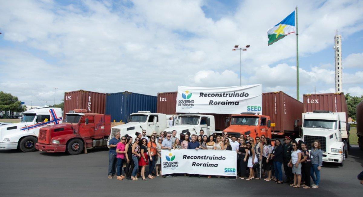 ANO LETIVO  2020 | Carretas chegam a Roraima com quase 4 mil mobiliários para as escolas da rede estadual