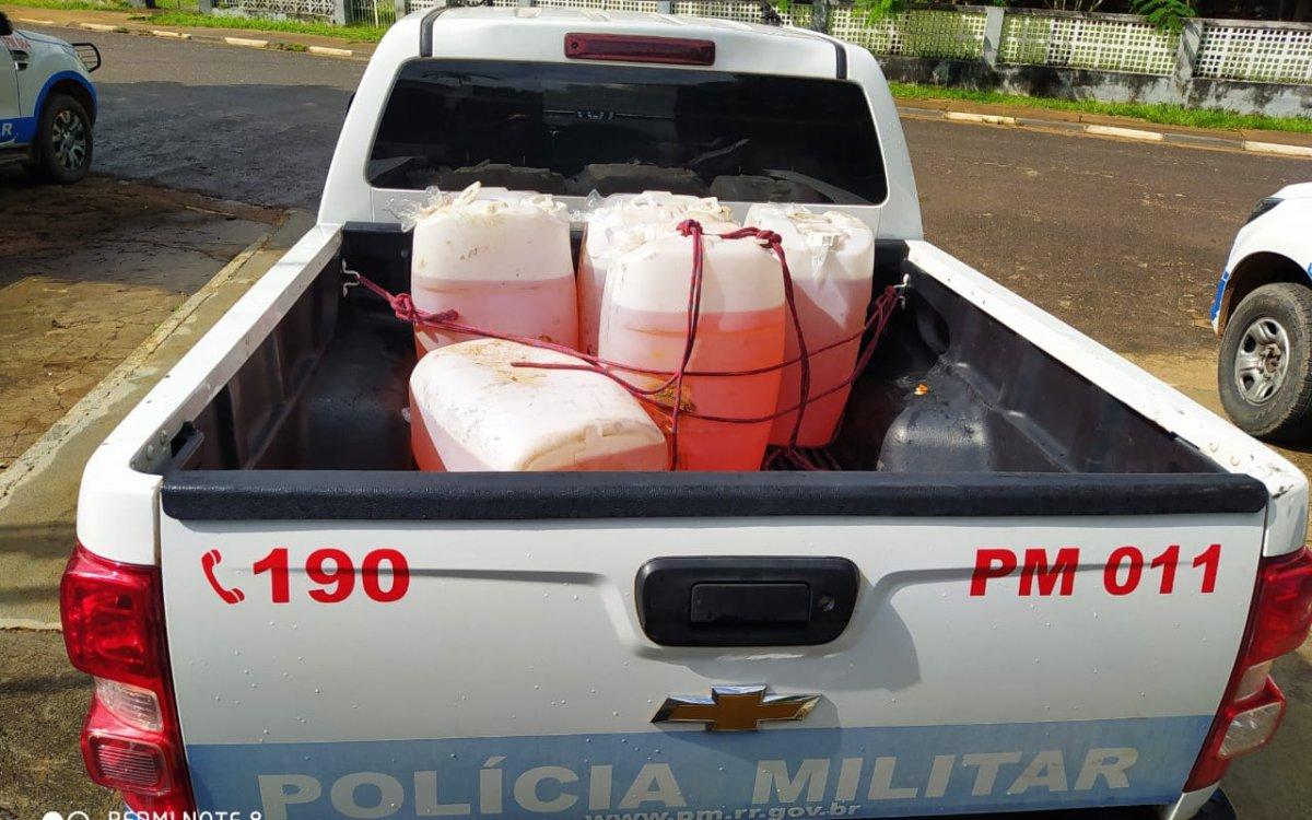 OPERAÇÃO CIDADE BLINDADA   Polícia Militar prende um homem e apreende munições e combustível em Alto Alegre